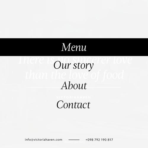Web design concept for Norway restaurant