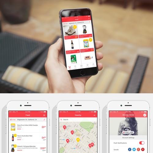 Fun flat app for a supermarket