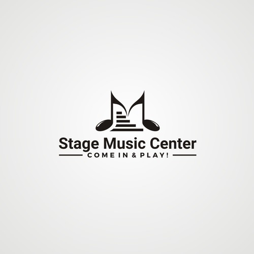 Logo concept for stage music center