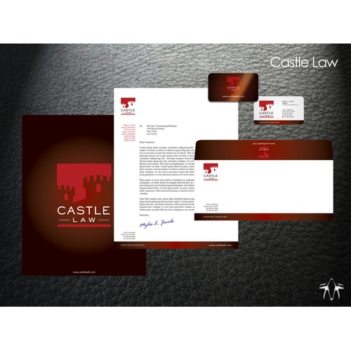 Castle Law Stationery set