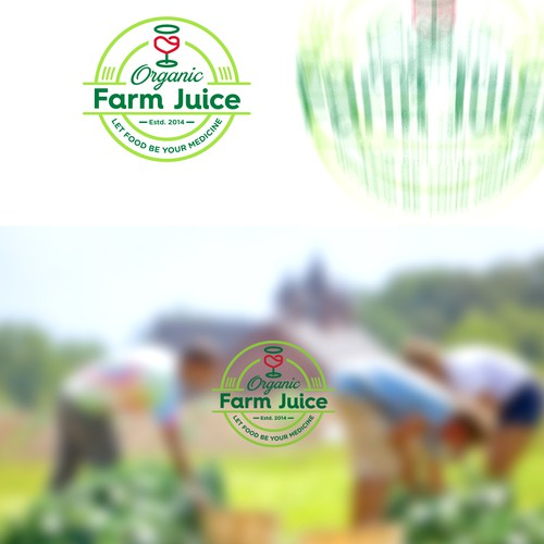 """Organic Farms Juice would like to challenge you to create health, community & Love through food."" c"