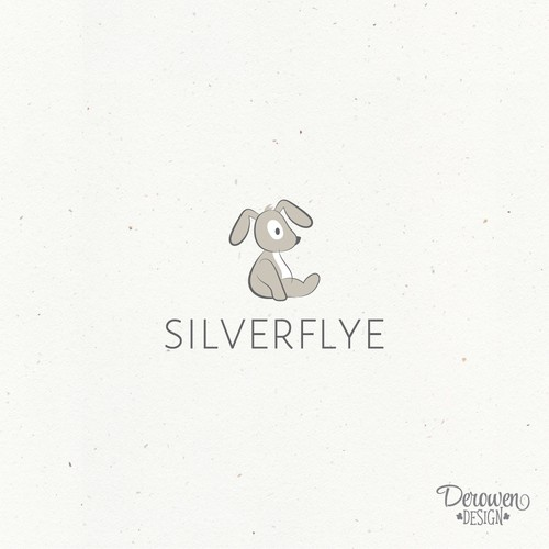 Simple, yet modern and cute bunny for a luxurious baby brand.