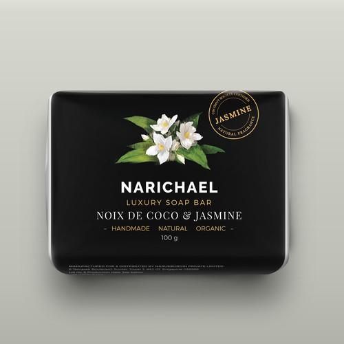 NARICHAEL SOAP label