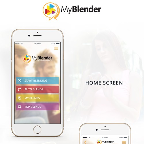 MyBlender-IPhone App Design