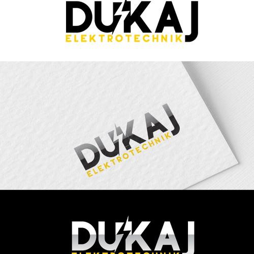 Dukaj Elechtrotechnik logo concept