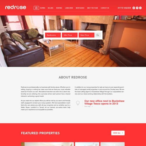 Design a stunning, responsive estate agent website