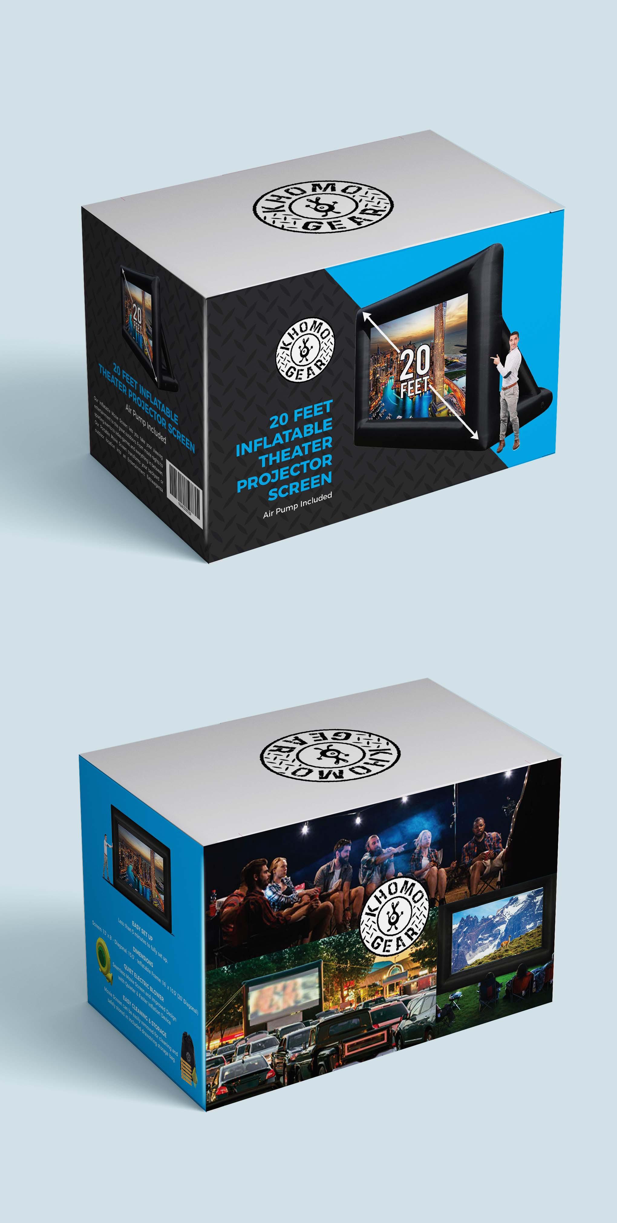 Carton Box Design for Jumbo Inflatable Movie Screen