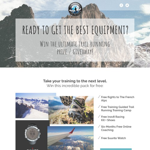 Landing page Trail Running Contest