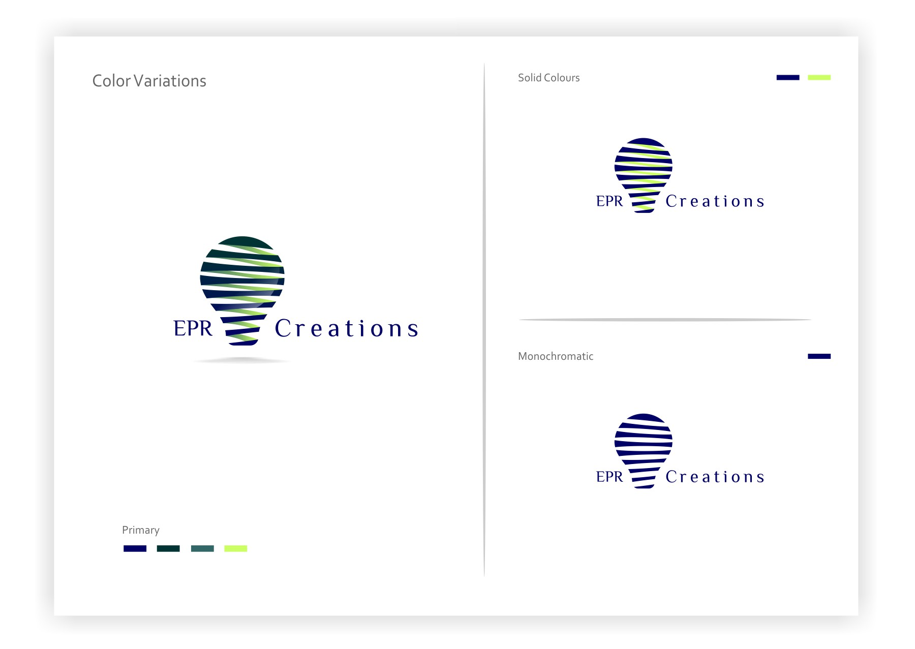 Create the next logo for EPR Creations