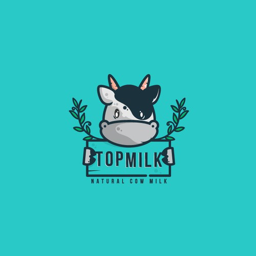 Playful character logo for Milk
