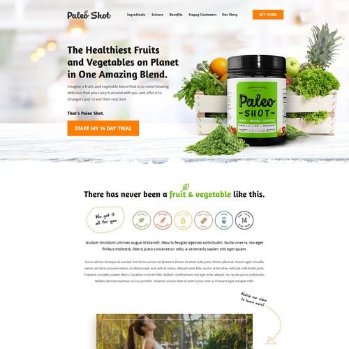 Food Supplement Web design