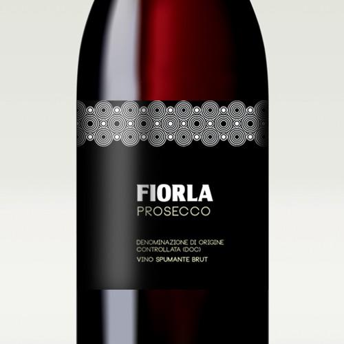 Wine label design for the italian sparkling wine Fiorla