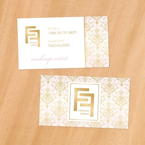 Luxuriously Makeup Artist Business Card