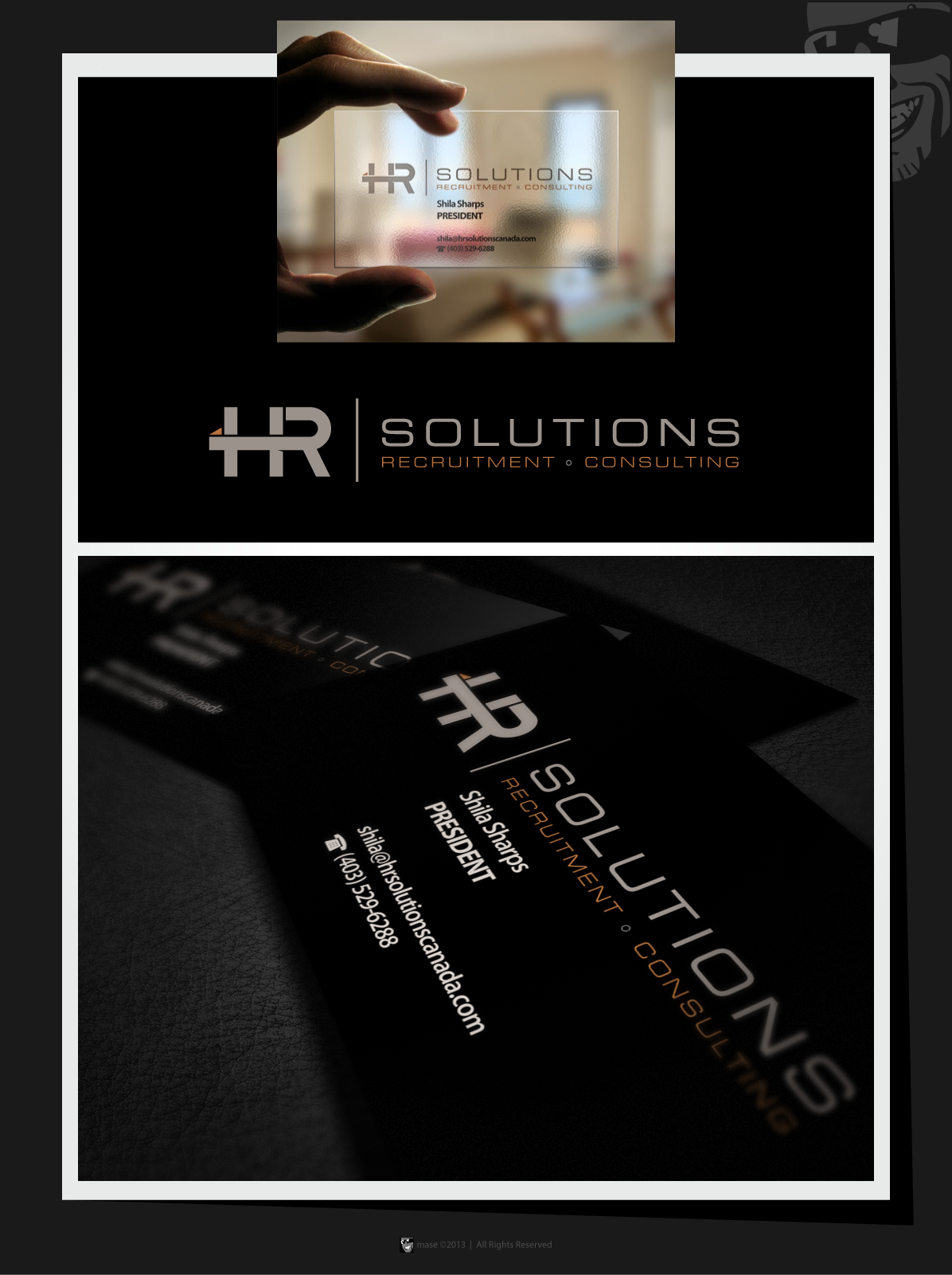New logo and business card wanted for HR SOLUTIONS