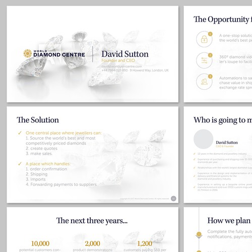 Presentation redesign for World Diamond Centre