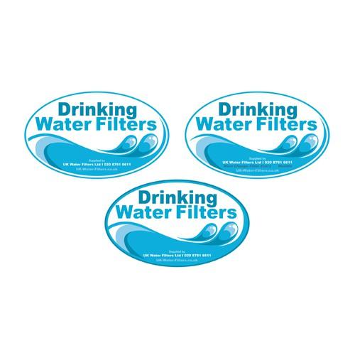 Water filter sticker