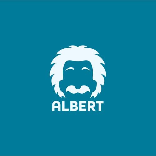 Flat icon for Einstein's face