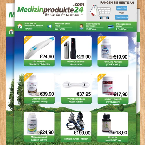 flyer / banner design for medicalproducts24.com