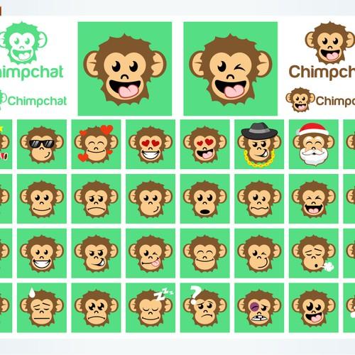 chimpchat emoticon design