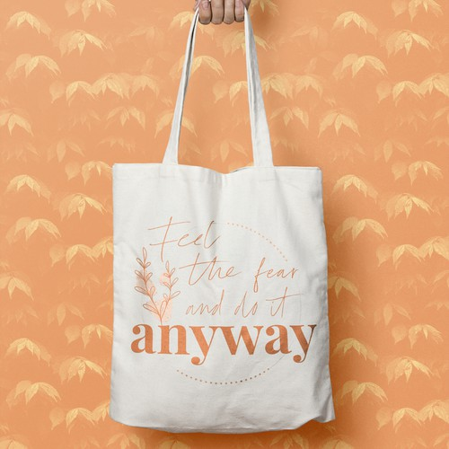 Lettering on Tote Bag