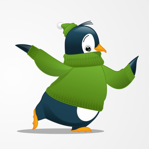 Create a beautiful mascot illustration for Theme Penguin