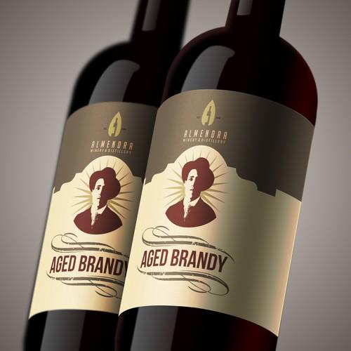 Aged Brandy label design
