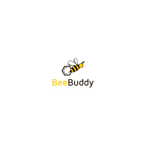 """Save the bees! - Logo for a bee protection app """"BeeBuddy""""."""