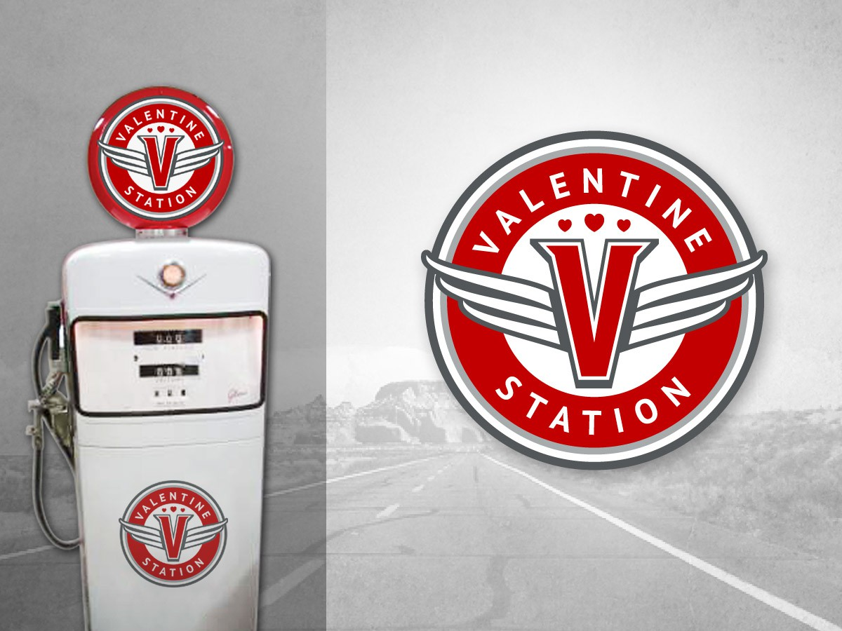 Logo design for historic Route 66 Gas station in Valentine
