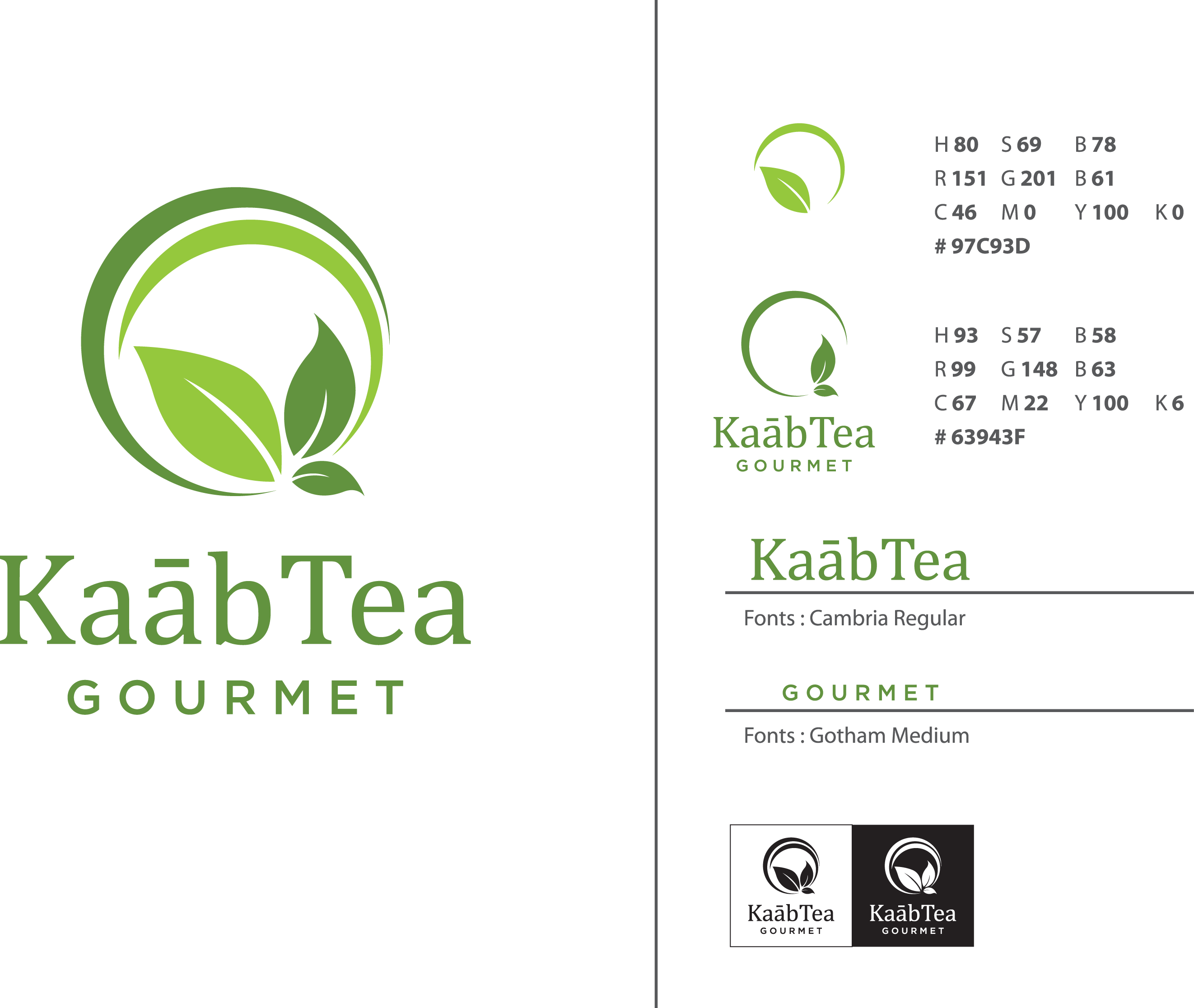 Very elegant and modern herbal tea logo