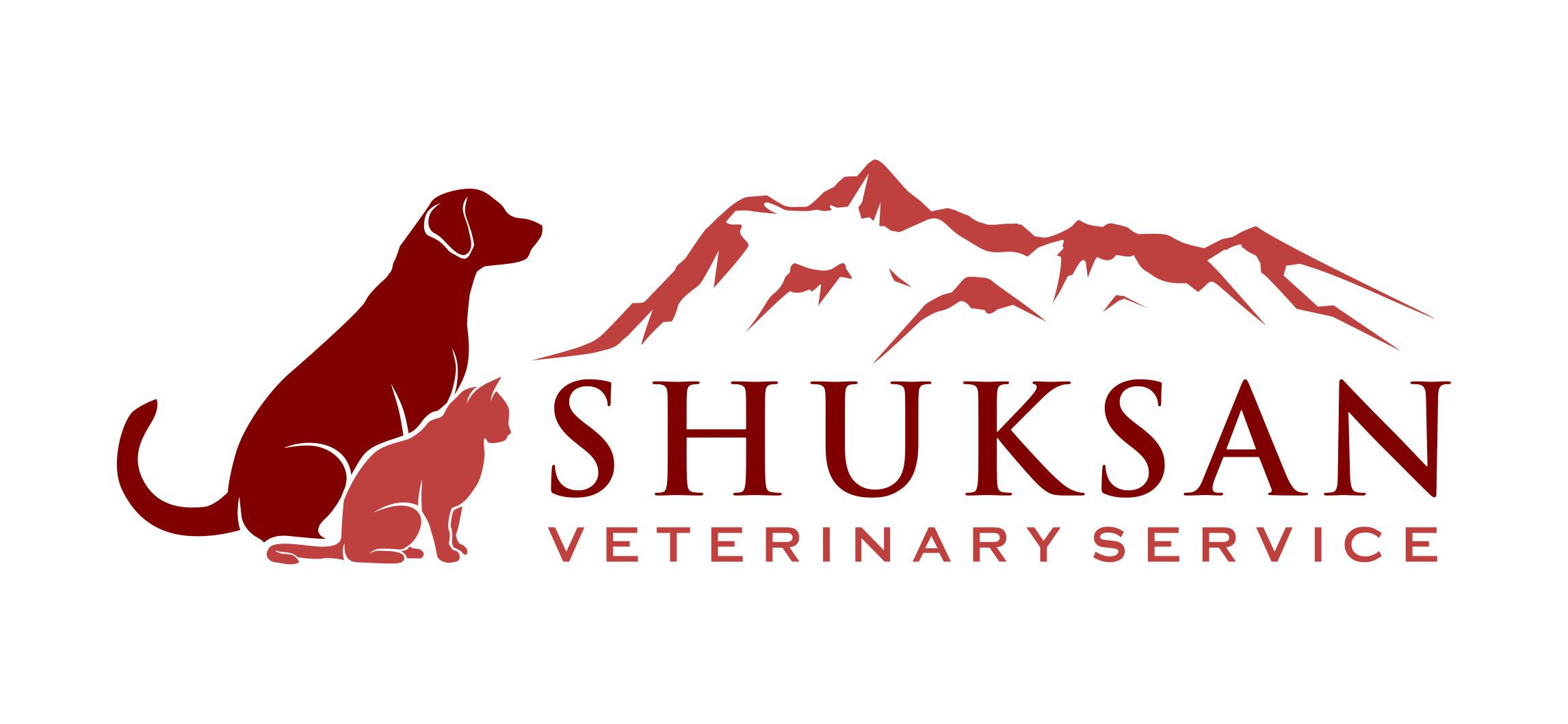 Mountains and Dogs! Create a stylized mountain logo for a veterinary ultrasound company.