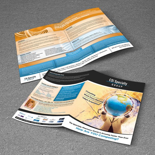Help CSI Specialty Group with a new brochure design