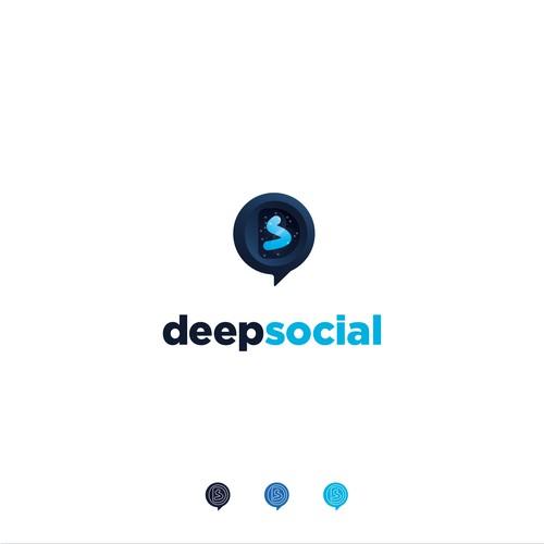 Logo concept for Deep Social