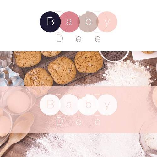 Logo concept for Baby Dee breastfeeding cookies