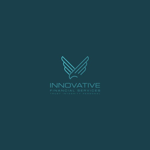 Simple, clean and professional logo concept for INNOVATIVE Financial Services