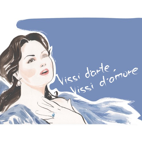 Illustrate a key visual to promote Anna Netrebko's new album