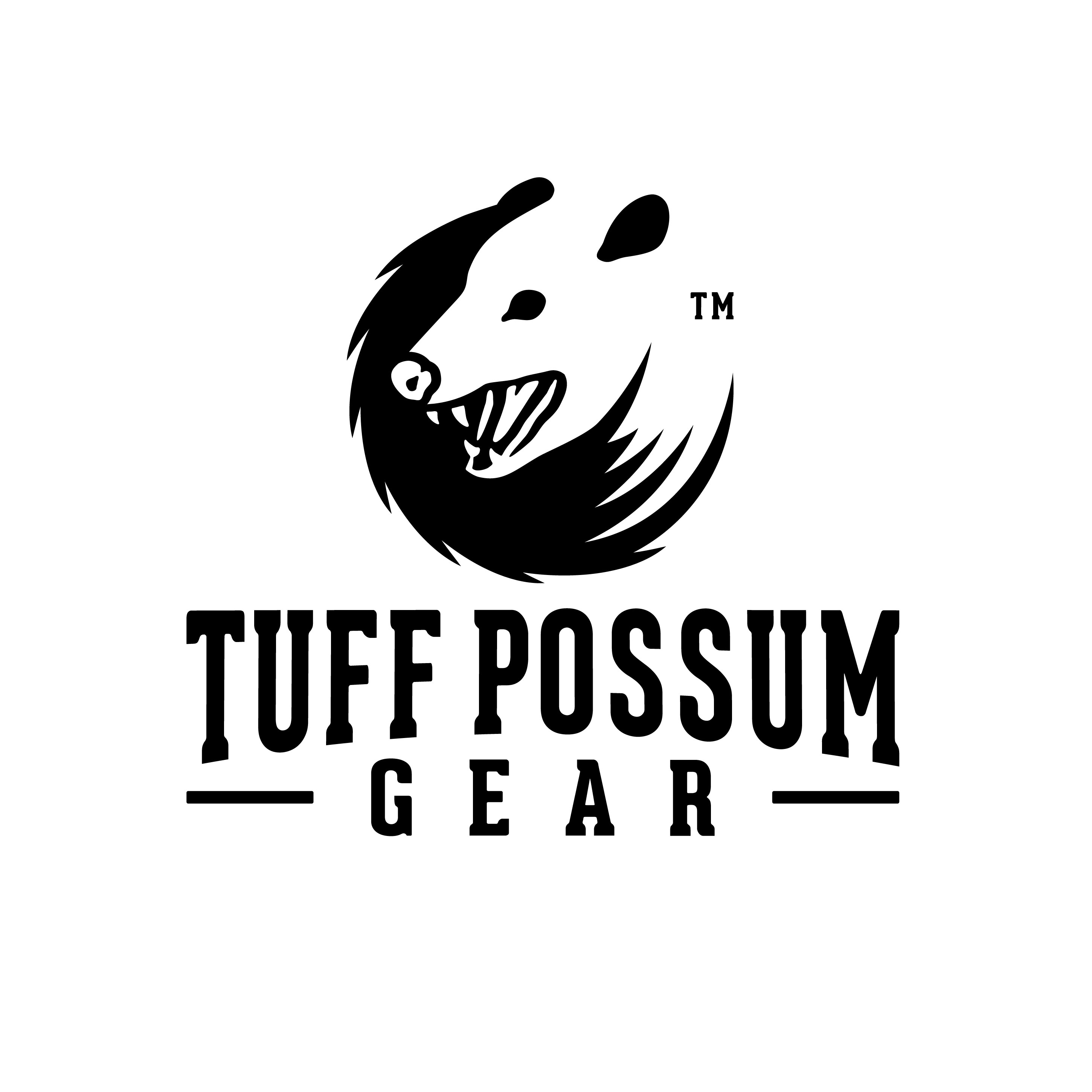 Design a Rugged and Strong 2D Logo for Tuff Possum Gear