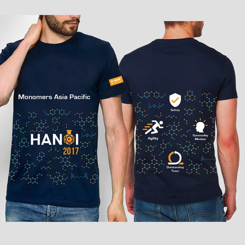 Easy T-shirt design for chemical company