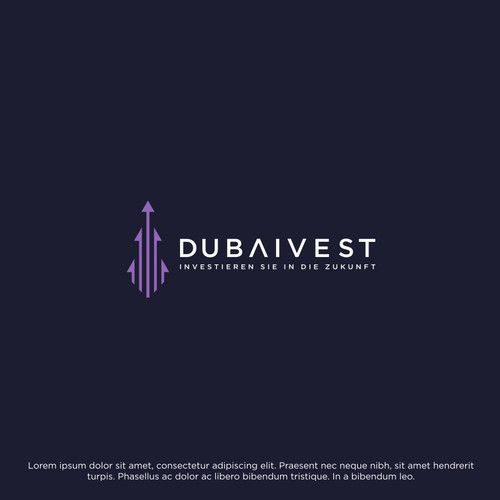Clean simple logo for Dubai Vest