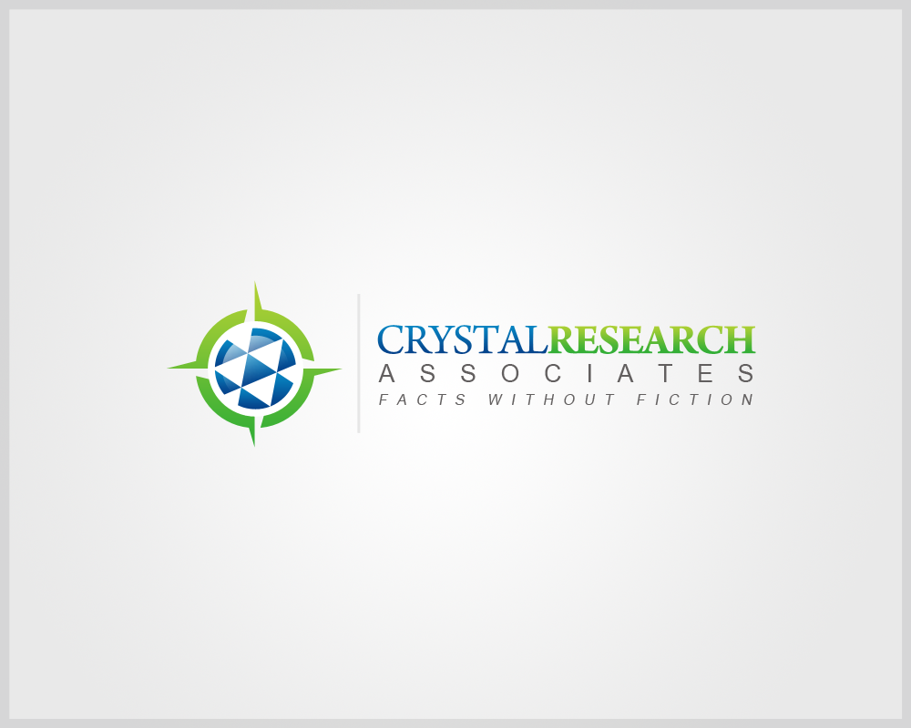 Create the next logo and business card for Crystal Research Associates