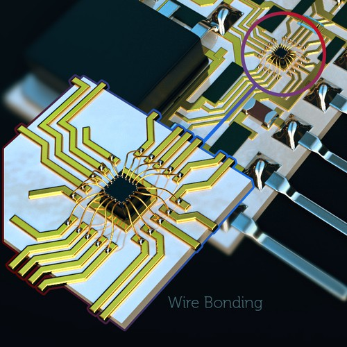 web graphic illustration for electronic component