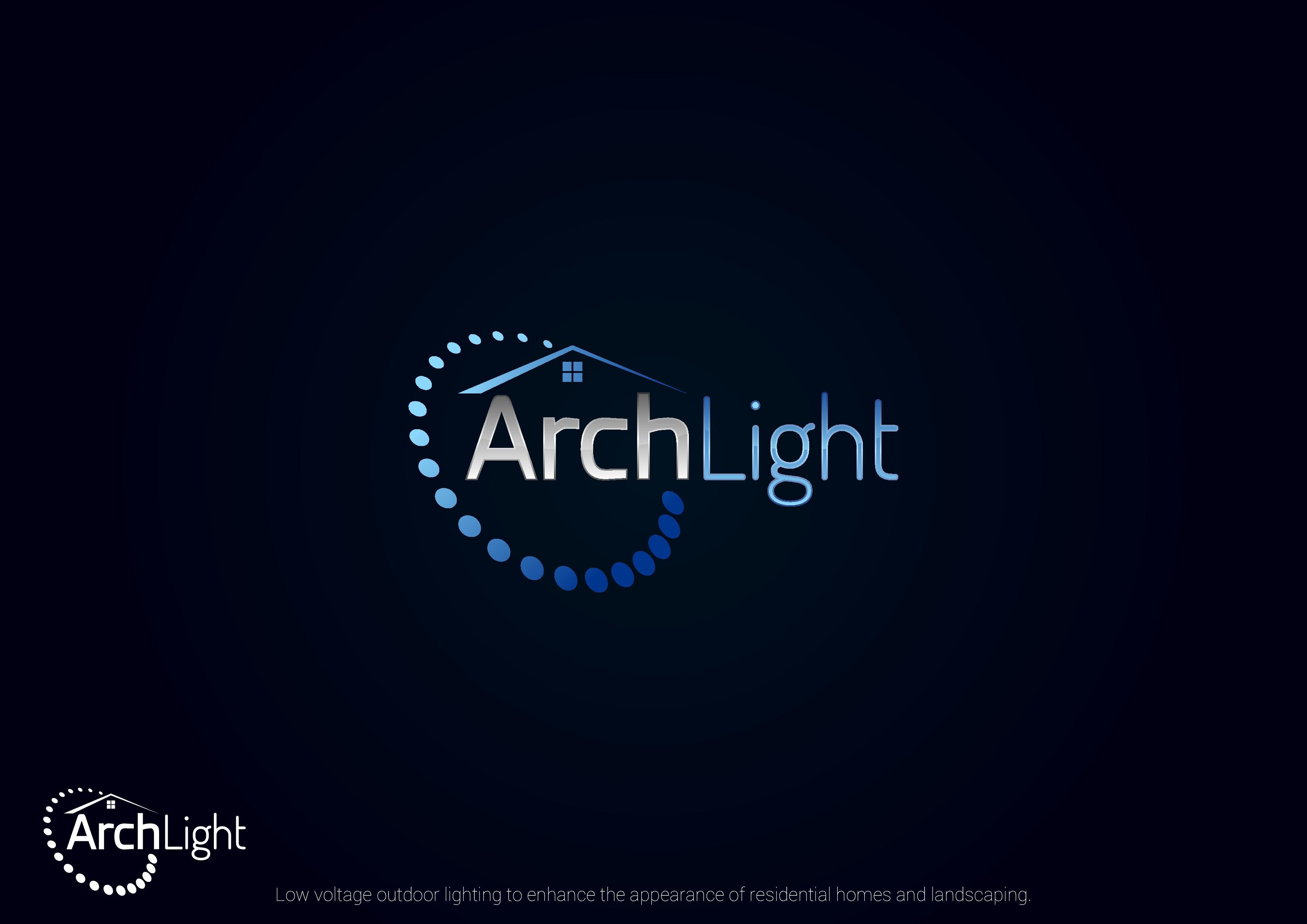 Create an elegantly modern logo for ArchLight outdoor lighting company