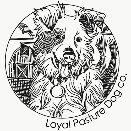 Concept Logo for Loyal Pasture Dog Company