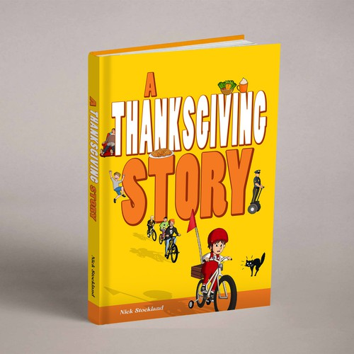 A Thanksgiving Story Book Cover Design