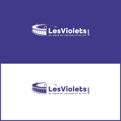 Concept logo pour site d'actualité sportive.