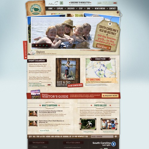 Tourism Website for SC