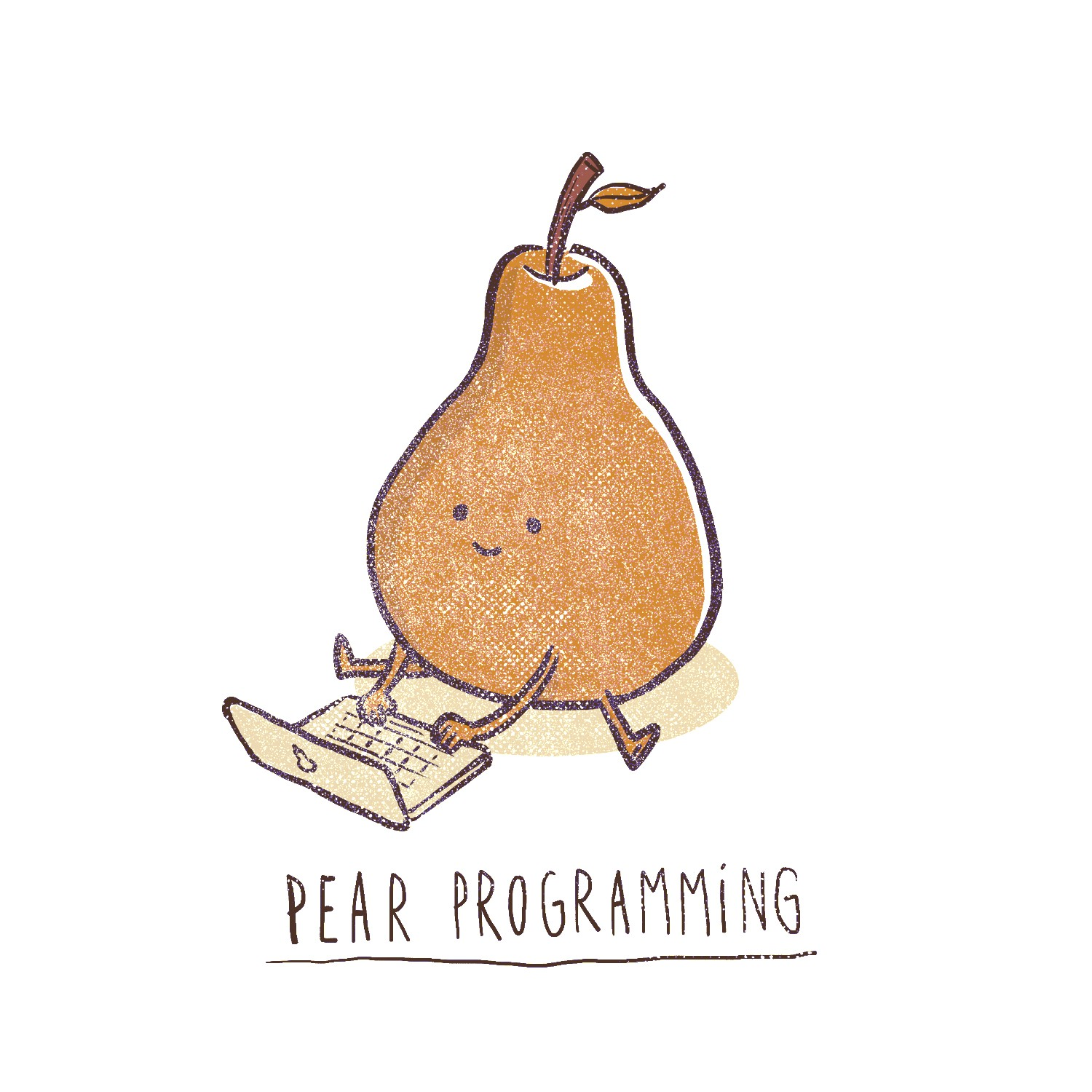 Cartoony, pun-based t-shirt for computer programmers