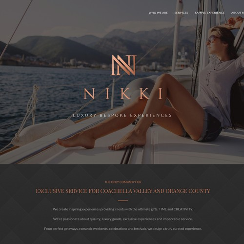 Landing Page Design for Luxury Travel Company