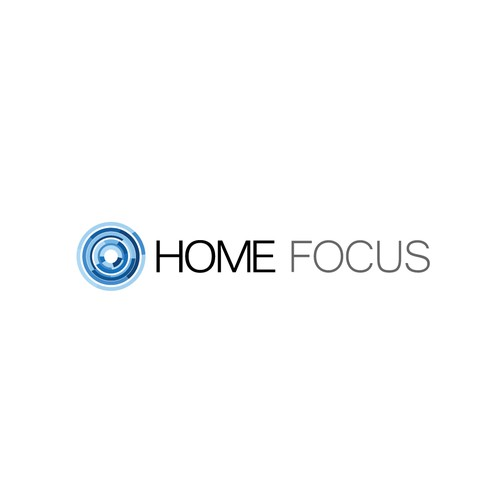 Clean logo design for Home Focus real estate photography company
