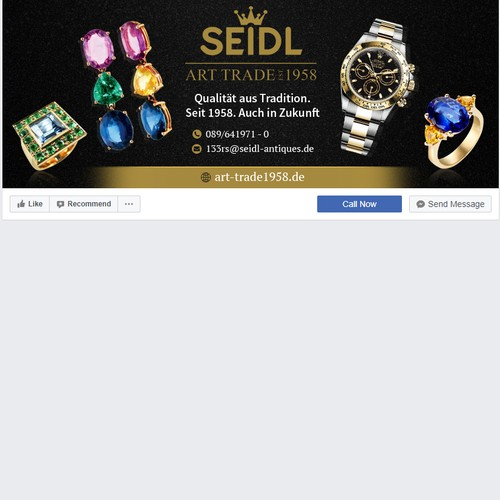 Social media pages are needed as well as advertising for upcoming trade fairs