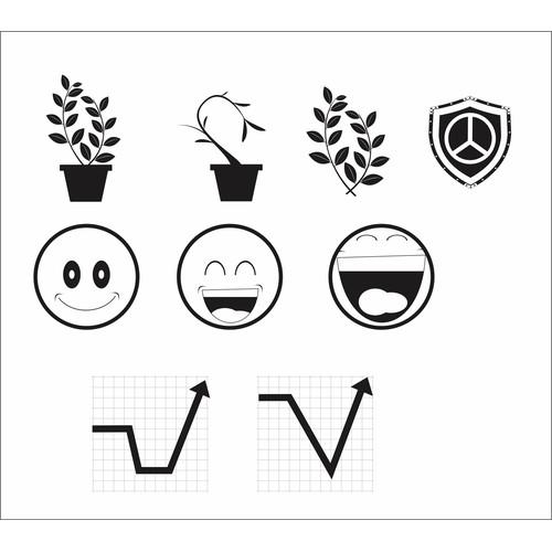 Erstellen: Nächste icon or button design für Set of three Icons